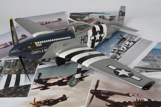 model WW2 fighter airplane with authentic decals by Image Transfers