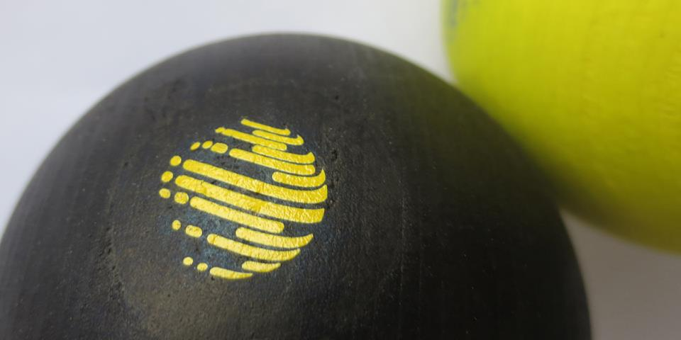 puckball closeup of custom rubdown transfer