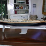 Kavallia is a 60' yacht, this is a scale model replica that uses our rubdown transfers.