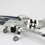 A scale model replica of a WWII P51D fighter plane using our custom dry rubdown transfers