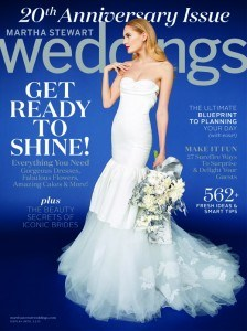 Cover photo of Martha Stewart's Weddings Magazine, Winter 2015