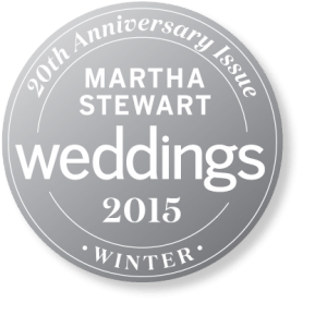 Martha Stewart's Weddings seal or logo for Winter 2015.
