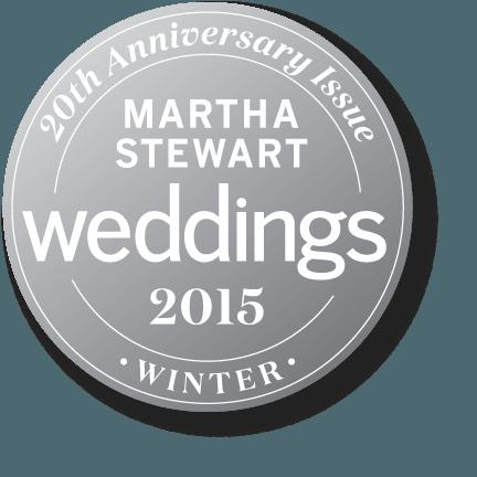 Martha Stewart's Weddings seal or logo for Winter 2015.