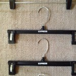 Two hangers with custom transfers ordered from Braiform.