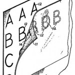 The original patent design for Letraset Instant Transfers