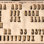 an example of a used page of letraset