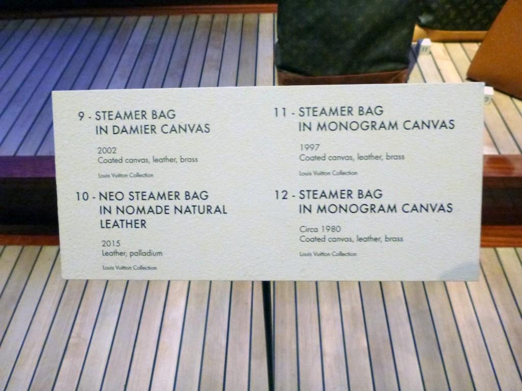 The vintage luggage exhibit in Lower Manhattan