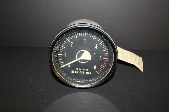 A classic car tachometer that needed replacement decals for a classic car.