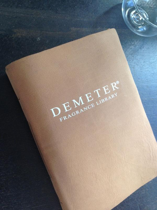 The Demeter Fragrance Library by Martha Stewart compiled their information in a beautifully bound book with a custom transfer of their company logo on the cover.